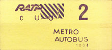 Un ticket jaune type u-u