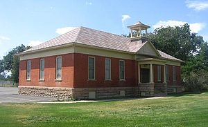 Timnath, Colorado - The 1900 school building, now a secondary building to Timnath Elementary School.