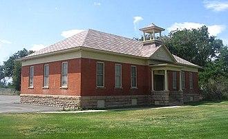 Timnath, Colorado - The 1900 school building, now a secondary building to Timnath Elementary School.