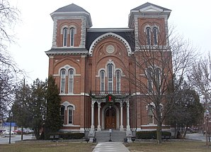 Tioga County Courthouse (2009), eines von 55 Objekten im County im National Register of Historic Places