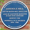 Tolkien's Sarehole Mill blue plaque-persp.jpg