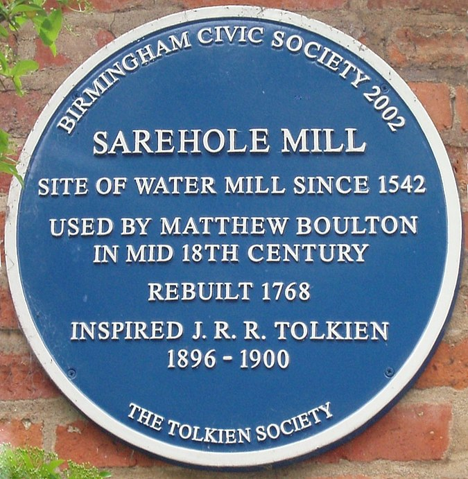 File:Tolkien's Sarehole Mill blue plaque-persp.jpg