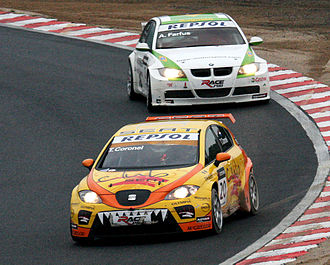 Tom Coronel - Coronel driving the SEAT León TFSI in the second race at the 2008 WTCC Race of Japan in Okayama. He managed to hold off a charging Augusto Farfus and won his first WTCC race.