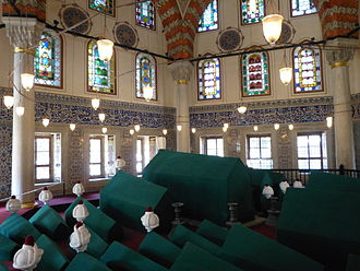 Safiye Sultan - The türbe of Safiye is located next to that of Murad III in the courtyard of Hagia Sophia