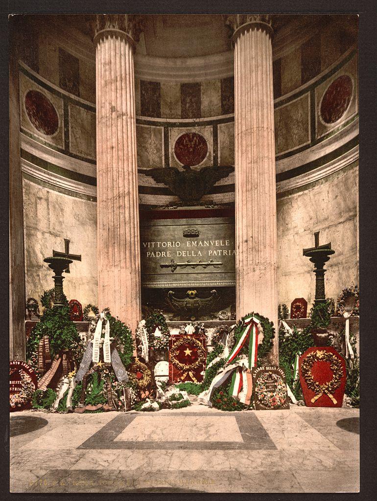 Tombe de Victor Emmanuel dans le Panthéon de Rome vers 1900.