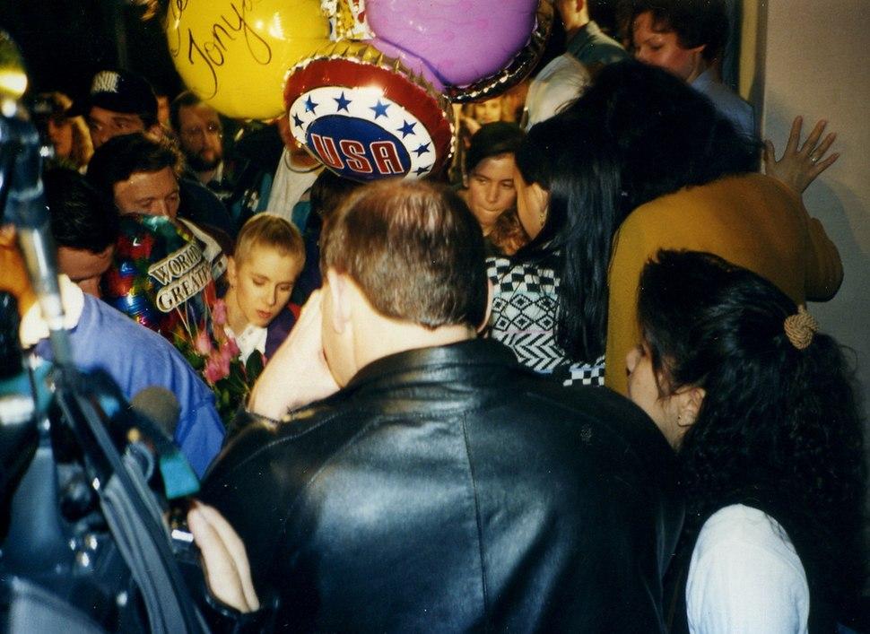 Tonya harding returning from norway 1994