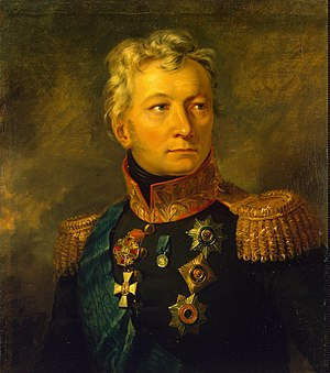 Alexander Tormasov - Portrait by George Dawe from the Military Gallery