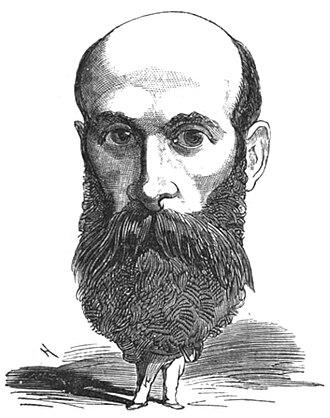 Henri Tolain - Caricature of Henri Tolain published in Le Trombinoscope of Touchetout in 1873.