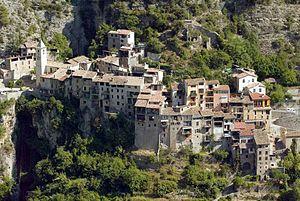 Touët-sur-Var - The upper village of Touët-sur-Var