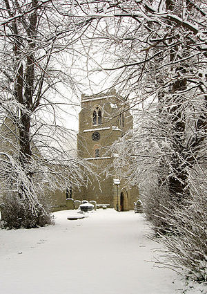 Towersey - Image: Towersey Church in the Snow geograph.org.uk 352062