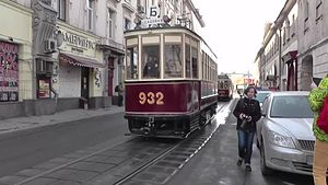 Файл:Tram parade in Moscow, 2014.webm
