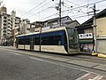 Tramcar for Tennoji-Ekimae Station at Sumiyoshi-Toriimae Station.jpg