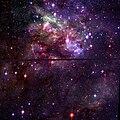 Trantula Nebula fragment Hubble WikiSky.jpg