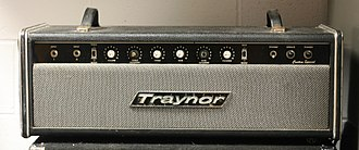 Traynor Amplifiers - Traynor YBA-3 Custom Special Amp showing the 1970 parallelogram nameplate