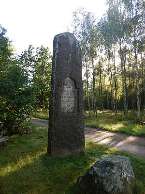 Treaty of Knäred - Memorial stone in Sjöared, Halland.