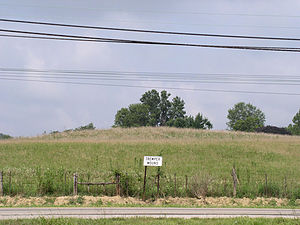 Tremper Mound and Works - A 2003 photo of Tremper Mound
