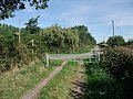 Trent Valley Way crossing Church Lane - geograph.org.uk - 1513206.jpg
