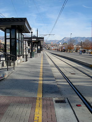 Trolley (UTA station) - Looking east from Trolley Station