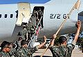 Troops depart Brasilia for Haiti 2010-07-20 6.jpg