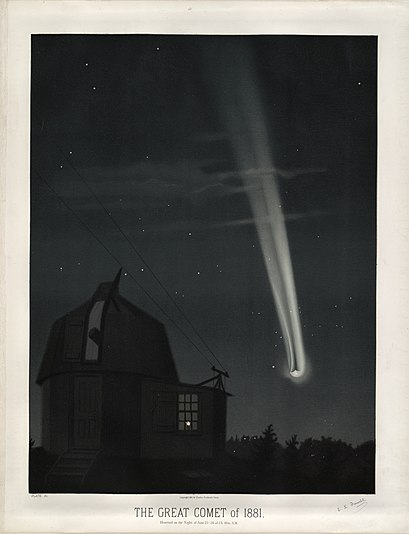 File:Trouvelot - The great comet of 1881 - 1881.jpg