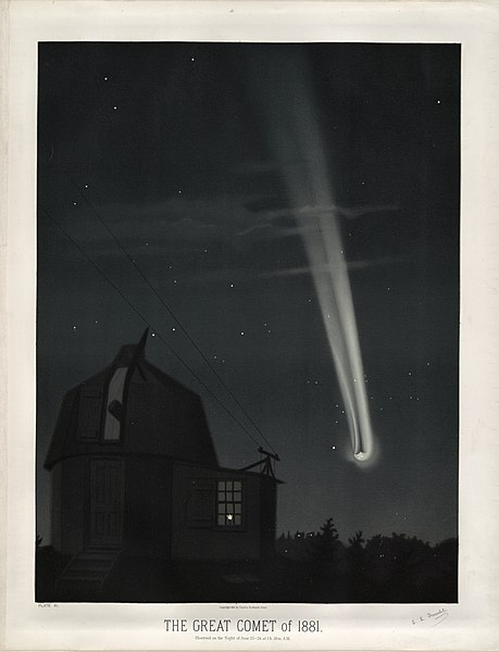 https://upload.wikimedia.org/wikipedia/commons/thumb/d/d1/Trouvelot_-_The_great_comet_of_1881_-_1881.jpg/459px-Trouvelot_-_The_great_comet_of_1881_-_1881.jpg