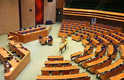 Die Zweite Kammer befindet sich im Binnenhof in Den Haag