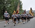 U.S. Army Col. Mark Weinerth, the commander of the 501st Sustainment Brigade, leads his Soldiers in a run during a celebration of the U.S. Army's 239th Birthday at Camp Carroll, South Korea, June 13, 2014 140613-A-NY467-001.jpg