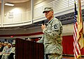 U.S. Army Lt. Col. Keith McVeigh, the commander of the 553rd Combat Sustainment Support Battalion, says farewell to the Soldiers of the 418th Transportation Company, as they begin their journey to Afghanistan 130610-A-JI408-003.jpg