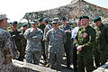U.S. Army Maj. Gen. David Elmo, front left, the U.S. Army Europe deputy chief of staff for Mobilization and Reserve Affairs, and Maj. Gen. Wesley Craig, front center, the adjutant general of Pennsylvania 130607-O-ZZ999-007.jpg