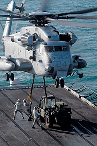 U.S. Marine Corps CH-53E helicopter aboard USS Peleliu.jpg
