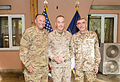 U.S. Marine Corps Gen. Joseph F. Dunford Jr., center, the outgoing commander of the International Security Assistance Force and U.S. Forces-Afghanistan, stands for a photo with Supreme Allied Commander Europe 140826-D-HU462-386.jpg