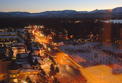U.S. Route 50 in South Lake Tahoe, California