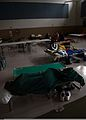 U.S. Service members and their families rest in a temporary shelter Sept 120902-N-CT127-003.jpg
