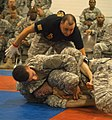 U.S. Soldiers grapple for position during the modern Army combatives tournament at the 2013 Army Reserve Best warrior competition June 27, 2013, Fort McCoy, Wis 130627-A-PO705-583.jpg