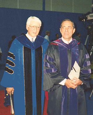 Bill Greiner - UB President William R. Greiner and NY Governor Mario Cuomo at UB, Amherst, New York, September 1992