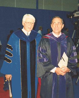 Bill Greiner - UB President William R. Greiner and NY Governor Mario Cuomo at UB, Amherst, New York, September 1992