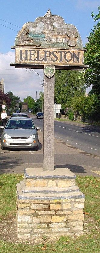 Helpston - Image: UK Helpston