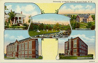 University of North Dakota - Early 20th century campus scenes