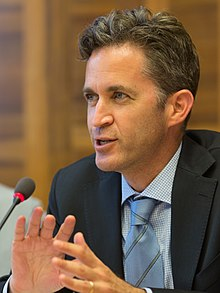 "UN Special Rapporteur David Kaye (freedom of opinion and expression) speaks during the June 16 side event ""Religion Meets Rights"" organized by FORUM-ASIA (cropped).jpg"