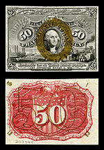 fifty-cent second-issue fractional note