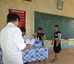 USAID supports deworming medication for school children in Bat Xat district of Lao Cai province (14033755588).jpg