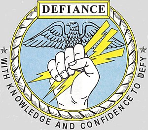 USS Defiance (PG-95) - Image: USS Defiance (PG 95) Symbol