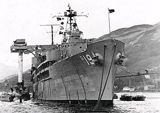 USS Proteus (AS-19) - Image: USS Proteus USS Partick Henry Holy Loch 1961