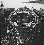 USS Sicily (CVE-118) under construction at Todd Pacific Shipyards, in 1944-1945.jpg