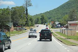 US 23 in Mountain City, Georgia May 2017.jpg