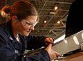 US Navy 060407-N-8726C-002 Aviation structural Mechanic 3rd Class Julie Burney assigned to the.jpg