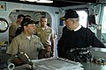 US Navy 070412-N-3888C-002 Cmdr. John A. Carter, commanding officer of guided missile destroyer USS Roosevelt (DDG 80), gives a tour of the ship to Italian navy Vice Adm. Roberto Cesaretti, Commander, Allied Maritime Component.jpg