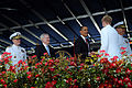 US Navy 090522-N-5549O-299 U.S. President Barack Obama congratulates a newly commissioned Navy ensign during the U.S. Naval Academy (USNA), Class of 2009 graduation and commissioning ceremony.jpg