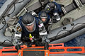 US Navy 091029-N-7095C-048 Members of an Australian boarding team disembark a rigid-hull inflatable boat and climb aboard the Military Sealift Command fleet replenishment oiler USNS Walter S. Diehl (T-AO 193) during a Deep Sabr.jpg