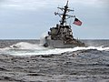 US Navy 100116-N-7408S-012 Waves crash over the bow of the guided-missile destroyer USS Carney (DDG 64).jpg